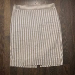 J.Crew Seersucker Pencil Skirt | 4